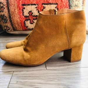 Madewell suede ankle boots